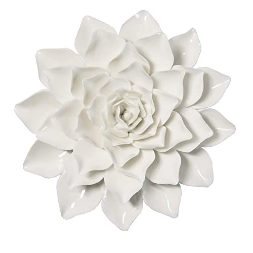 Buy Alycaso Handmade Dahlia Artificial White Ceramic Flowers 3d Wall Decor Hanging Wall Decorations For Bedroom Living Room Tv Wall Art Sculpture 6 Inch Online In Kazakhstan B07kp9dc7z