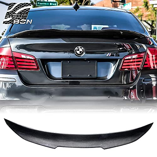 CS Style AeroBon Real Carbon Fiber Rear Trunk Spoiler Compatible with 09-16 BMW F10 5-Series /& M5