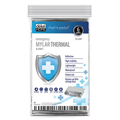SOS Emergency Rescue Space Thermal Mylar Blankets FIRST AID KIT