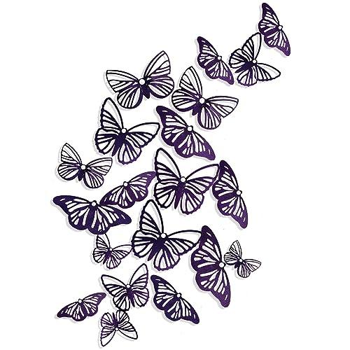 Buy Pinkblume Dark Purple Butterfly Decorations 3d Butterflies Wall Art Decals Stickers Diy Removable Paper Pearl Butterflies For Kids Room Living Room Nursery Bedroom Showcase Wall Decor36pcs Online In Kazakhstan B086mkhqty